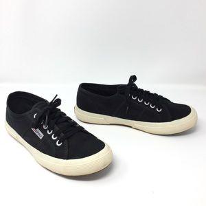 Superga Black Canvas Italian Unisex Sneakers